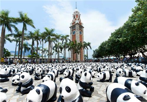 1600 Pandas at the Clock Tower in Tsim Sha Tsui