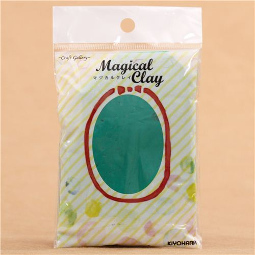 dark green paper clay Magical Clay from Japan