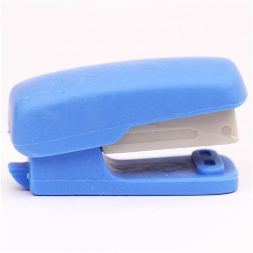 blue stapler school supplies eraser by Iwako from Japan