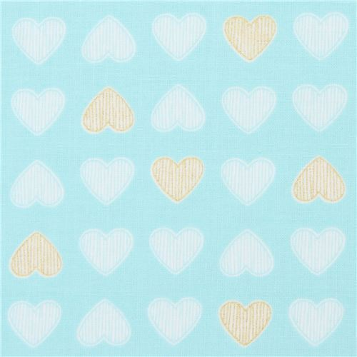 turquoise Michael Miller fabric metallic Heart of Gold