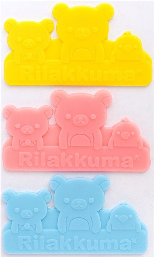 Rilakkuma bear  divider sheets for Bento Box Lunch Box
