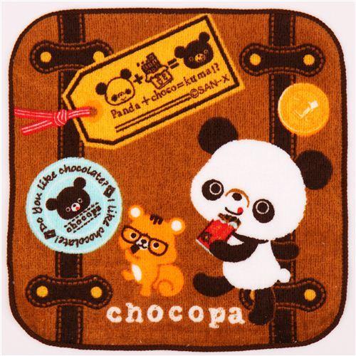 brown Chocopa panda bear suitcase towel from Japan