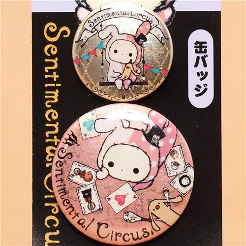 Sentimental Circus Shappo button brooch badge San-X