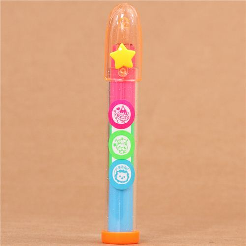 kawaii sundae lion bear stamp pen mini stamp set