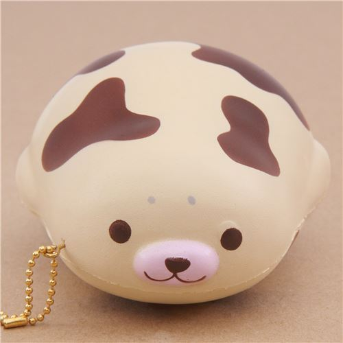 cute cream brown patch mochi seal animal scented squishy by Puni Maru