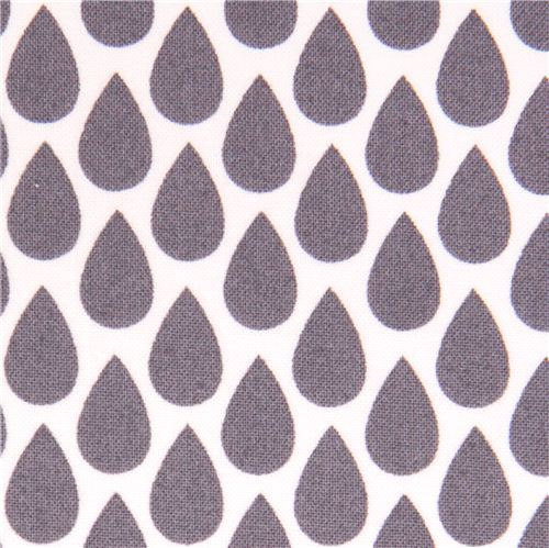 white grey raindrop fabric by Michael Miller USA