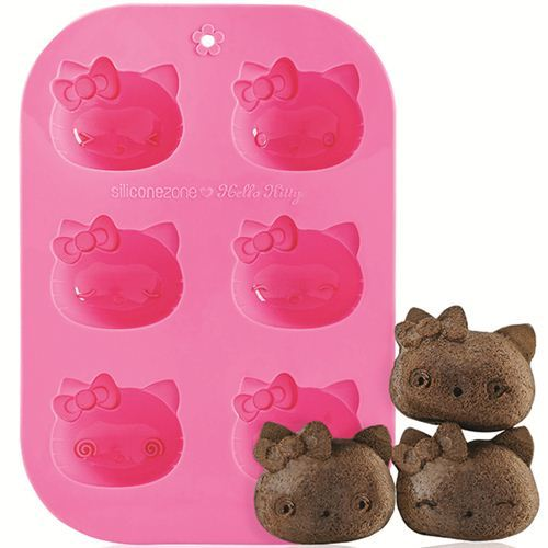 pink Hello Kitty silicone Muffin mold cake mold