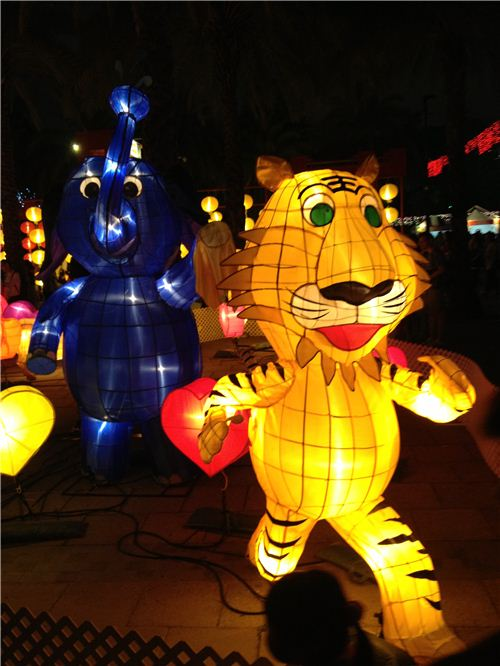 A funny lion and elephant