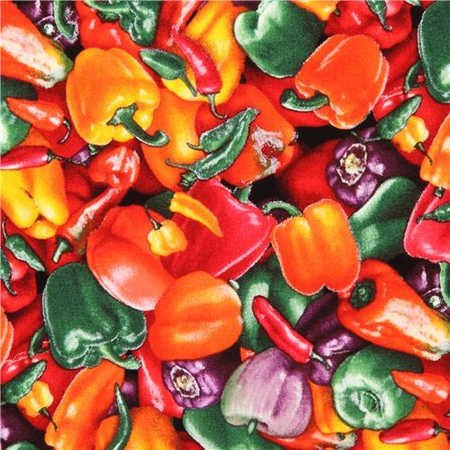 colorful paprika vegetable food fabric Food Festival Elizabeth's Studio