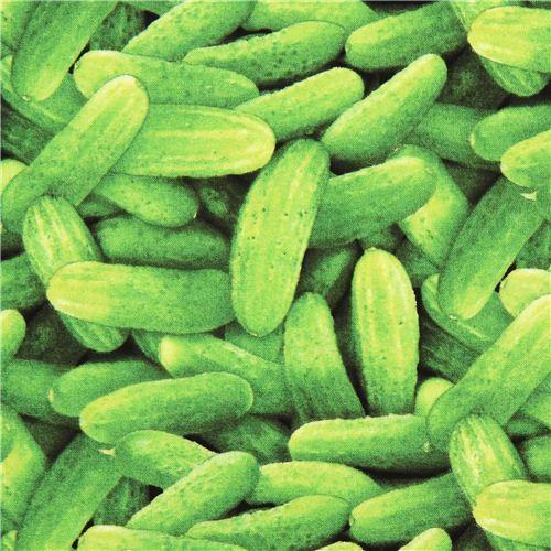 green cucumbers vegetable food fabric Food Festival Elizabeth's Studio