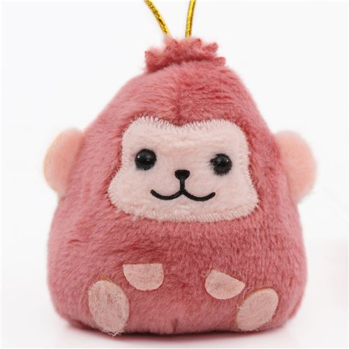 small purple monkey with gold color strap Chinese Zodiac Puchimaru plush charm