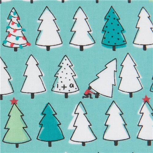 turquoise fabric small Christmas tree Ink & Arrow