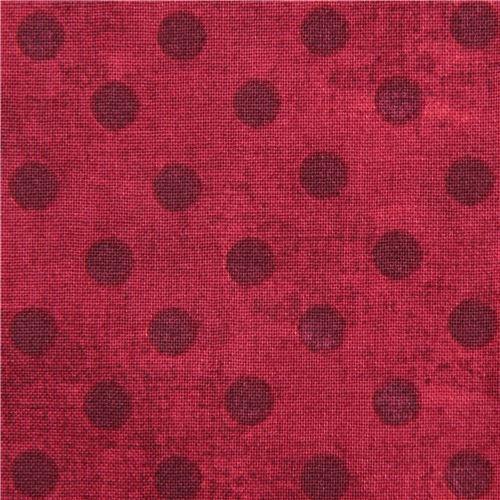 red fabric polka dot Gorjuss Quilting Treasures