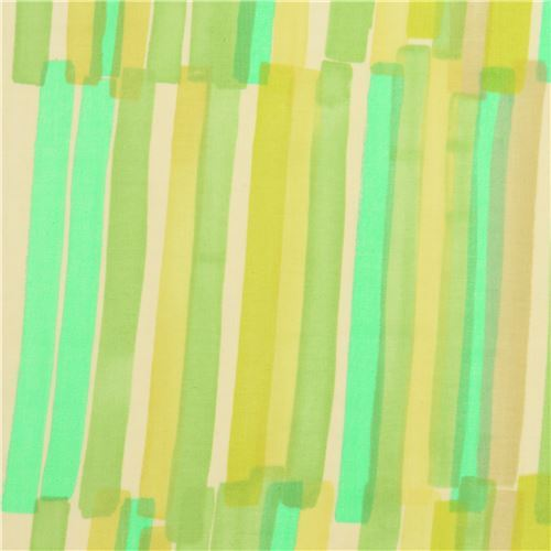 green stripe nani iro double gauze fabric by Kokka