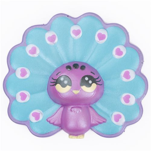 scented blue and purple peacock bird animal by Joey Squishy