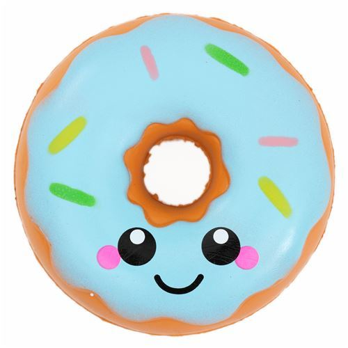 scented donut with blue icing squishy