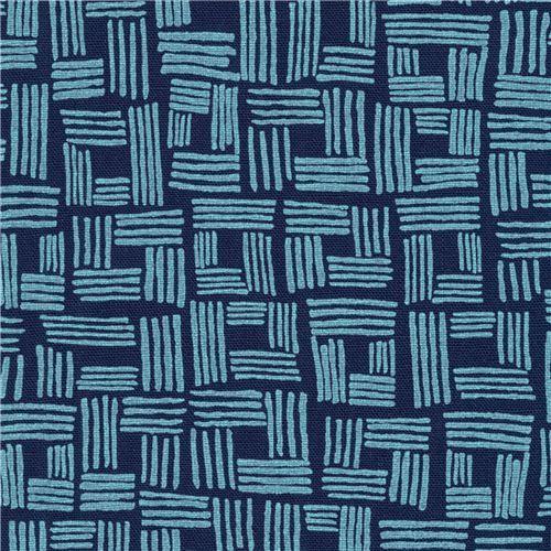Robert Kaufman navy blue shape fabric