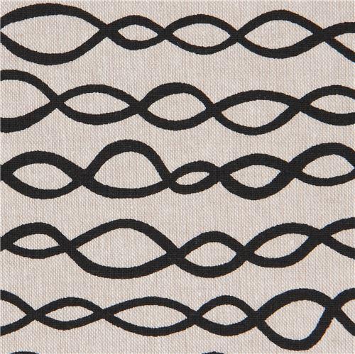 natural color Robert Kaufman black loop linen cotton fabric Arroyo Essex