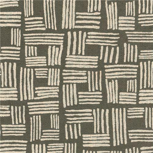 grey-green Robert Kaufman shape fabric