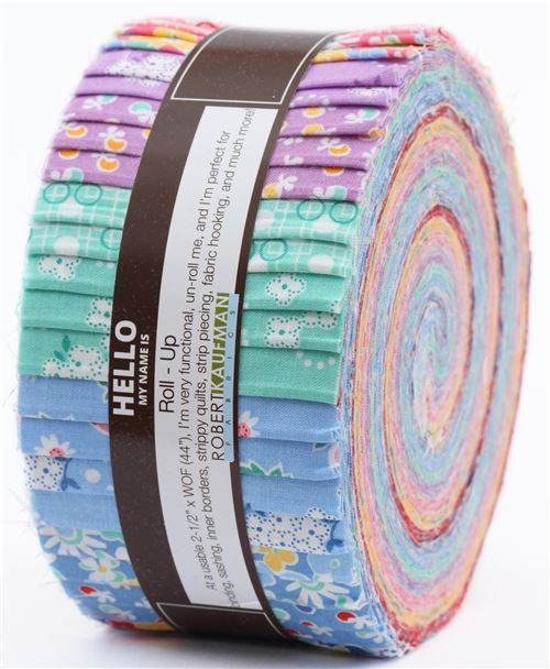 Roll-up fabric roll Complete Collection Robert Kaufman Birds of Liberty