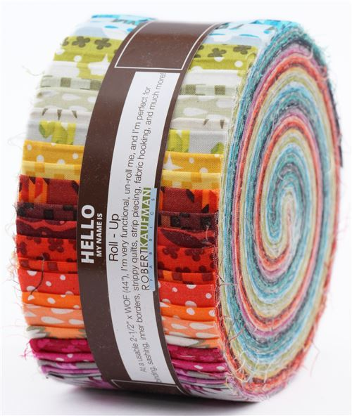 Roll-up fabric roll Complete Collection Robert Kaufman Paintbox Basics