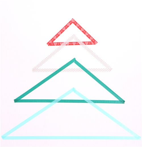 Triangle Masking Tape Christmas tree
