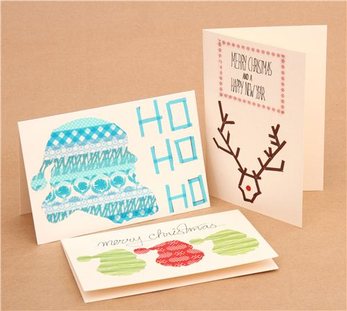 Christmas DIY: Christmas cards with Masking Tape 2014