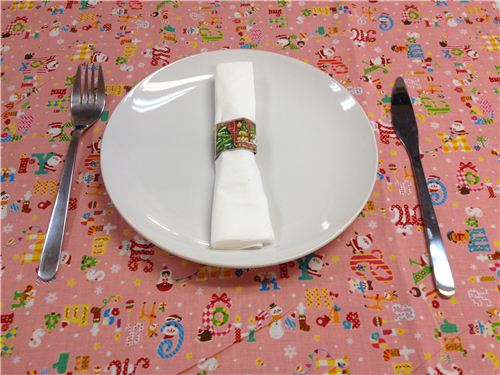 Christmas scene Washi napkin ring