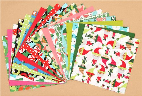 Christmas fabric bundle elf owl Ten-Square Robert Kaufman