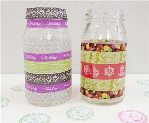 Today's Christmas craft: Christmas candle jars