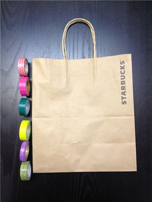 Just use a paper bags and some colorful Washi tapes