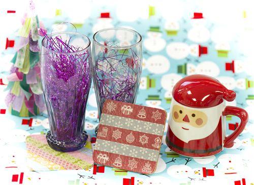 Today's Christmas craft: Washi Tape Christmas Coaster
