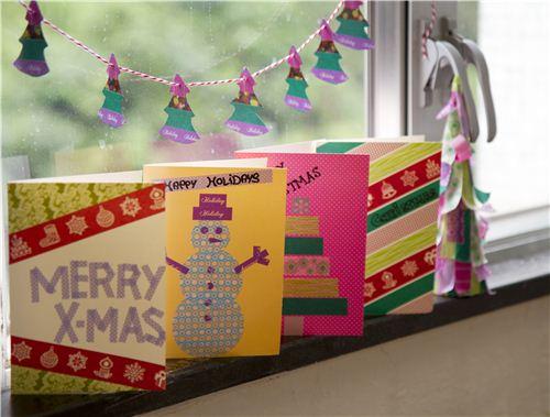 Today's Christmas craft: Washi Tape Christmas cards