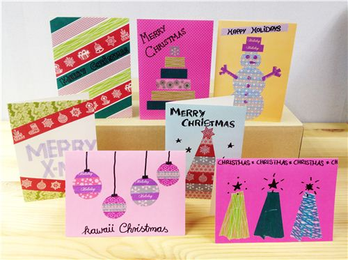 This year we crafted a few different cards