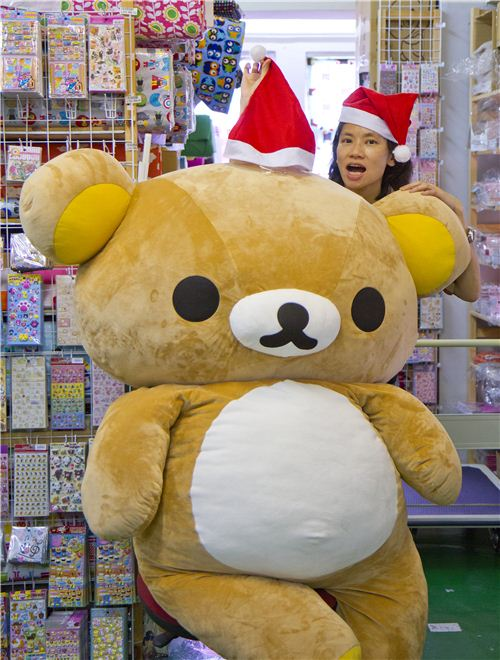 Jacqueline and Rilakkuma are excited about the Christmas gift ideas they came up with