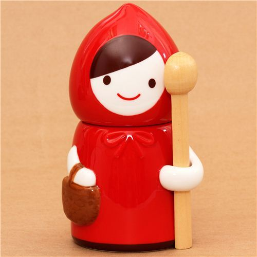 Red Riding Hood fairy tale cup canister Decole Otogicco