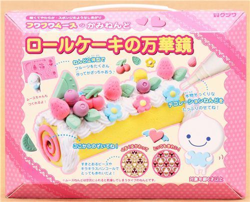 DIY paper mousse clay making kit kaleidoscope swiss roll