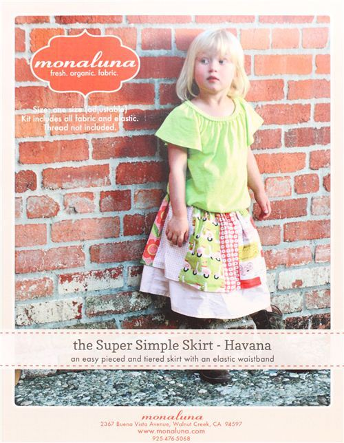 monaluna sewing kit for girl's skirt Havana