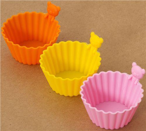 Rilakkuma bear mini silicone bowls 3 pcs Bento cups
