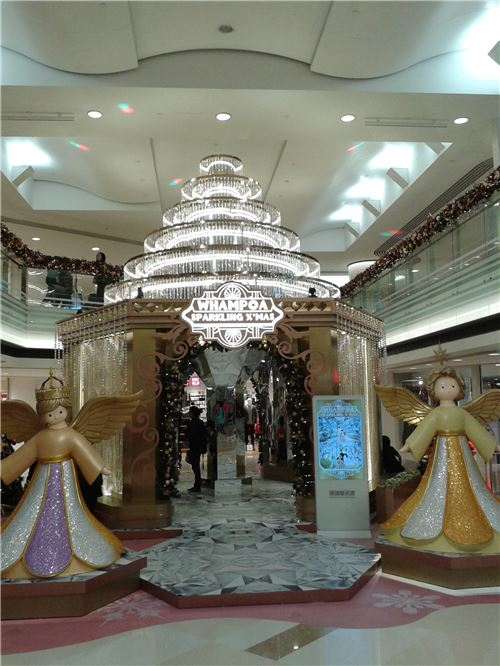 A stunning indoor installation, also at Whampoa