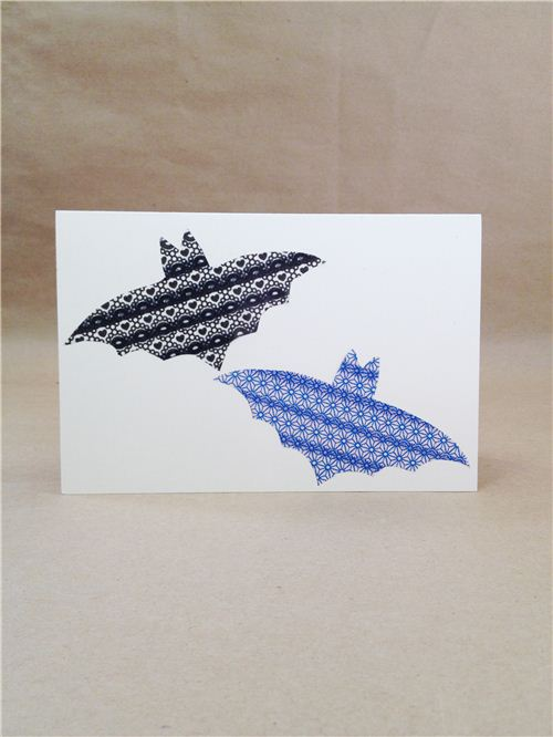 DIY bat Halloween card