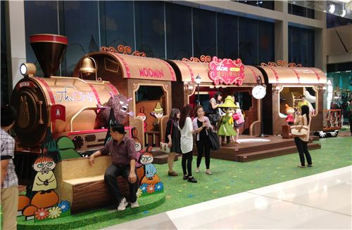 The super cute train with lots of details to discover