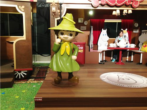 The character Snufkin from the Moomins