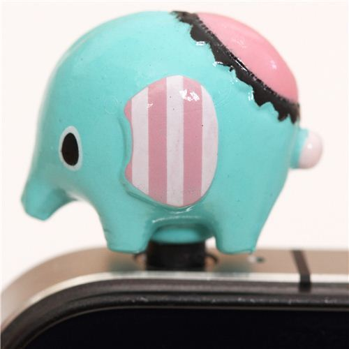 Sentimental Circus elephant mobile phone plug earphone jack