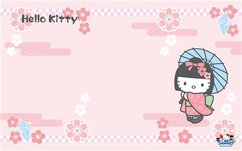 Hello Kitty cherry blossom wallpaper