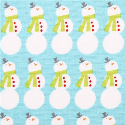Christmas Basics Riley Blake snowman Xmas fabric blue