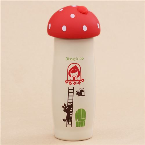 cream red top Little Red Riding Hood Thermo bottle from Japan 220ml