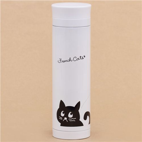 white French Cats face Thermo bottle from Japan