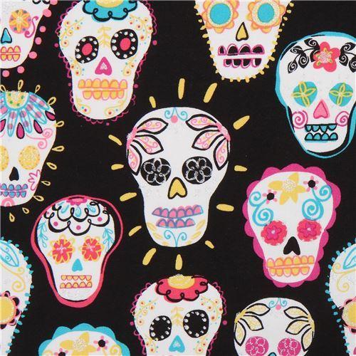 Timeless Treasures glitter skull fabric