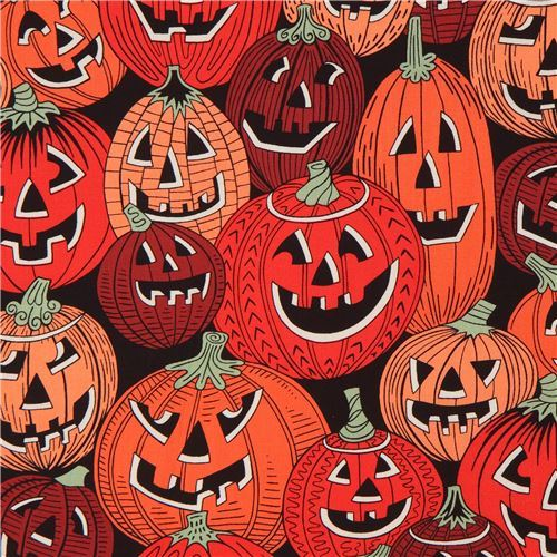 pumpkin fabric by Alexander Henry